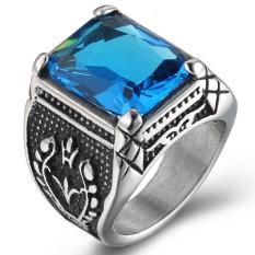Harga Cincin Perak Antikarat Bergaya Klasik Gotik And Bermata Kristal Warna Biru Oem Baru