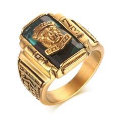 Harga Stainless Steel Green Berlian Buatan 1973 Walton Tigers Signet Ring For Pria 18 K Berlapis Emas Ukuran 7 11 Oem Baru