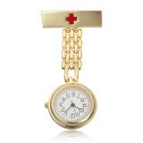 Promo Stainless Steel Medis Dokter Perawat Cross Bros Jubah Fob Quartz Pocket Gold Watch