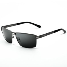 Stainless Steel Men's Sun Glasses Polarized Driving Masculino Male Eyewear Accessories Sunglasses (black)   - intl