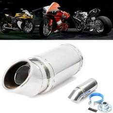 Promo Toko Stainless Steel Motor Siku Exhaust Pipa Muffler Pipe Key 55Mm Inlet Dia 7 Panjang Intl