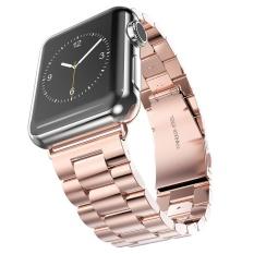 Stainless Steel Watch Band untuk Watch Apple Watch Gelang Strap Aksesoris 38mm Klasik Lock dengan Adaptor- INTL