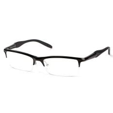 ... Stallane Fashion Optical Miopia Bingkai Aluminium Kacamata Bisnis Tontonan Kacamata Half Rim Kacamata untuk Pria Hitam