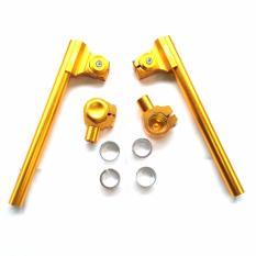 Stang Jepit Full CNC Ukuran 26-33 - FU-CBR-Vixion-Ninja150-Tiger-Scorpio-Megapro-DLL - Gold