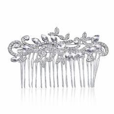 Bintang Mall Pengantin Perhiasan Klasik Anggun Menawan Mahkota Berlian Imitasi Sisir Ikat Kepala Gaya: Sebuah-Internasional