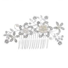 Bintang Mall Pengantin Perhiasan Klasik Anggun Menawan Mahkota Berlian Imitasi Sisir Ikat Kepala Gaya: E-Internasional