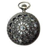 Harga Steampunk Retro Antik Hitam Jam Saku Perhiasan Liontin Kalung Kuarsa Tiongkok
