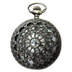 Ulasan Lengkap Steampunk Retro Antik Hitam Jam Saku Perhiasan Liontin Kalung Kuarsa