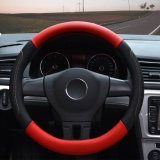 Review Pada Steering Wheel Covers 14 56 14 96 Pu Leather Red M Intl