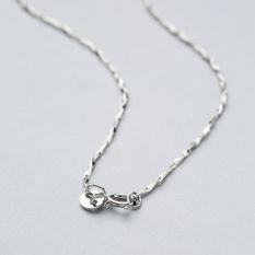 Sterling Silver Ingot Chain untuk Wanita Grosir Perhiasan Pernikahan S925 Kalung 1.0mm Putih Emas Warna Silver Rantai Kalung Wanita -Intl
