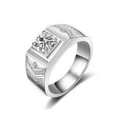 Sterling Perak Pria Menikah Cincin Cincin Miniatur Cincin Berlian