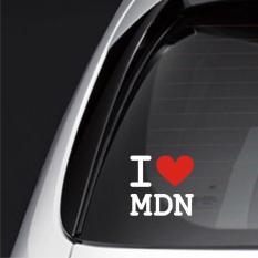 Sticker Mobil / Stiker Mobil Kaca Belakang Tulisan I Love Medan