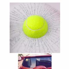 Stiker 3D Mobil Model Bola Tenis Sticker Unik Tennis Hit Car Body Kaca Mobil Jendela Spion Ball Design Keren Seakan Pecah 3 Dimensi Desain Kreatif Aksesoris Water Resistant Sun Proof Green Tahan Air Cuaca - Hijau
