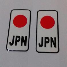 Stiker Bendera Jepang 2 pcs