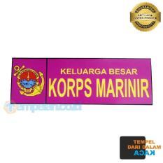 STIKER KELUARGA BESAR KORPS MARINIR TNI AL (TEMPEL DALAM KACA)