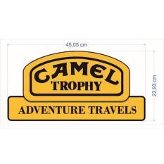 Stiker Mobil- Camel Trophy _Yellow Bright (Pernik Offroad- 4X4)