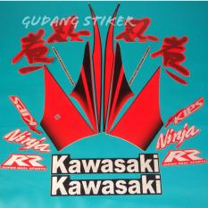 Diskon Stiker Motor Ninja Rr 2010 Merah Branded