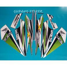 Jual Stiker Motor Supra X 125 2013 Hijau Original