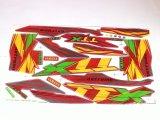Toko Stiker Motor X Ride Stiker Motor Striping Motor X Ride Variasi Merah Kuning Jawa Barat