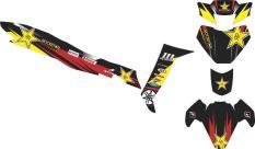 Stiker Striping Decal Motor FIZ R Racing Rockstar Grade B