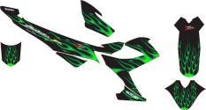 Stiker Striping Decal Motor Satria Fu Fire Green Grade A