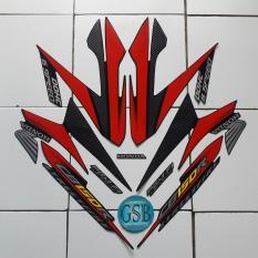 Stiker Striping Motor honda Cb150 R 2014 hitam-merah