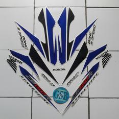 Stiker Striping Motor honda Cb150 R 2014 putih-biru