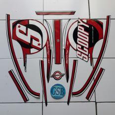 Stiker Striping Motor honda Scoopy 2015 hitam-merah