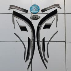 Stiker Striping Motor honda Scoopy Stylish 2017 hitam-abu