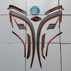 Stiker Striping Motor honda Scoopy Stylish 2017 hitam-orange
