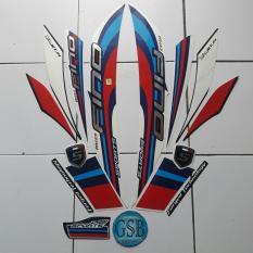 Stiker Striping Motor yamaha fino Sport 2017 biru-merah