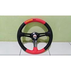 Harga Stir Racing Momo Semi Celong Hitam Merah Asli