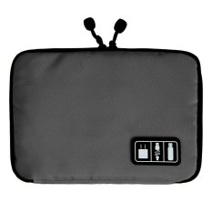 Penyelenggara Penyimpanan USB Digital Tas Kasus Kabel Headphone Portabel Pena Perjalanan Sisipkan Kelabu