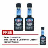 Stp Super Concentrated Fuel Injector Cleaner Carburetor Cleaner Carbon Cleaner Campuran Bbm Aditif Bensin Untuk Clean Motor Karbon Setiap Pembelian 2Btl Free 1Btl Jadi 3Btl Original