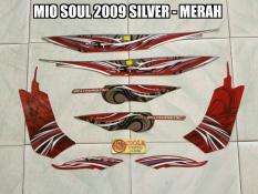 Striping Mio Soul 2009 Silver - Merah