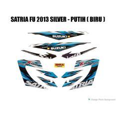 Ongkos Kirim Striping Satria Fu 2013 Silver Putih Biru Di Jambi