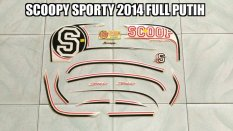 Diskon Striping Scoopy Sporty Fi 2014 Full Putih Multi Di Jambi