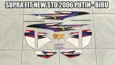 Toko Striping Supra Fit New Std 2006 Putih Biru Lengkap Indonesia