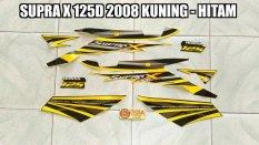 Toko Striping Supra X 125D 2008 Kuning Hitam Termurah