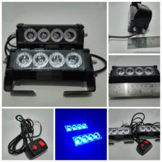 Harga Strobo 8 Led 8 Mode Jf R Isi 2 Pcs Motor Mobil Signal Super Bright Biru Original