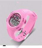 Beli Siswa Digital Sport Watch Alarm Tanggal Chronograph Led Lampu Belakang Tahan Air Arloji Pink Tiongkok