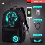 Diskon Student Luminous Usb Charge Computer Anti Theft Laptop Backpack For Teenager Intl Akhir Tahun