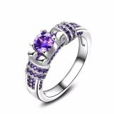 Beli Bergaya Ungu Batu Wanita Cincin Elegan Aaa Zircon Pernikahan Rings Proposal Gift Intl Lengkap