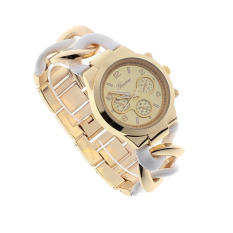 Jual Stylish Womens Fashion Watch Stainless Steel Band Quartz Arloji Putih Di Bawah Harga
