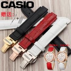 Mengganti Casio Kulit Jam Tangan untuk Mengambil Sheen 3034 Merah Casio Wanita Gaya Kupu-kupu Tombol Hingga 10 Mm convex-Internasional