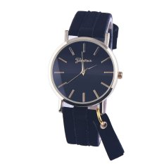 Harga Suede Tassel Watch Strap Black Black Dial Watch Baru