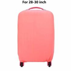 Spesifikasi Sampul Koper Luggage Solid Debu Cover Aksesoris Perjalanan Bagasi Packing Organizer Pelindung Melindungi Dengan Polyester Elastis Faric Untuk 28 30 Inch L Pink Intl Bagus
