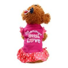 Summer Cute PET PUPPY Anjing Kecil Cat Pet Pakaian Baju Fly Lengan Dress-Intl