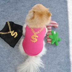 Peliharaan Anak Anjing Musim Semi Anjing Kecil Kucing Pakaian Hewan Peliharaan Rompi T SHIRT Pakaian Panas