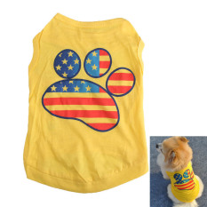 Panas Musim Anjing Peliharaan Kucing Kecil Pakaian T-shirt Tapak Rompi Cetak